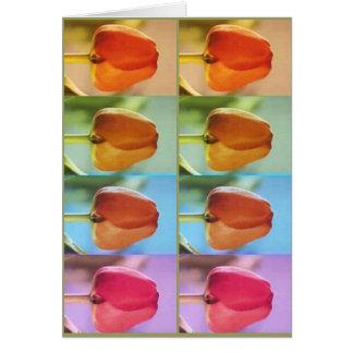Mostra de flor da TULIPA Cartão Comemorativo
