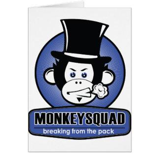 Mostra do pelotão do macaco cartão comemorativo