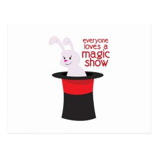 Mostra mágica cartão postal