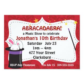 Mostra mágica do Abracadabra Convite 12.7 X 17.78cm