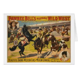 Mostra ocidental selvagem de Bill do Pawnee Cartão Comemorativo