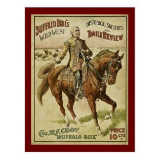 Mostras selvagens do diário do oeste de Buffalo Cartão Postal