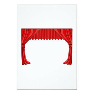 Mostre a cortina convite 8.89 x 12.7cm