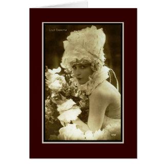 Mostre a menina 1920 cartão comemorativo