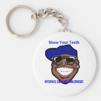 Mostre a seus dentes a corrente chave chaveiro