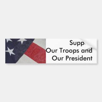Mostre o apoio para nossa nação & a luta no terror adesivo para carro