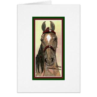 Mostre o cartão de Natal do cavalo