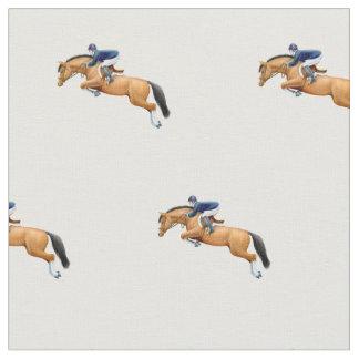 Mostre o tecido de salto do Equestrian do cavalo