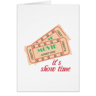 Mostre o tempo cartão comemorativo