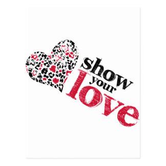 Mostre seu amor cartão postal