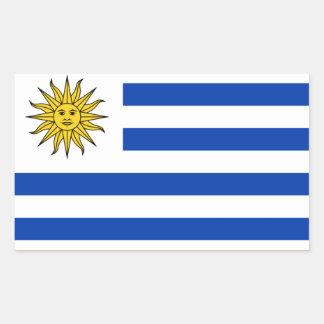 Mostre seu orgulho em Uruguai! Adesivo Retangular