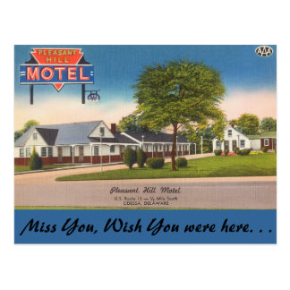 Motel de Delaware, Pleasant Hill Cartão Postal