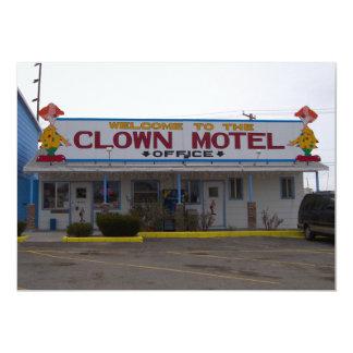 Motel do palhaço convites personalizado