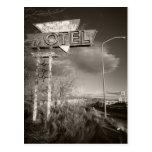 Motel retro cartão postal