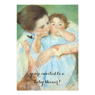 Mother and Child by Cassatt, Vintage Baby Shower Invitations