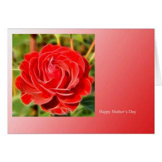 Mothers Day Card conversas rose moderno Cartão Comemorativo
