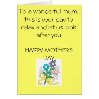 mothers-day-crafts-1, a uma mãe maravilhosa, isto… cartão comemorativo