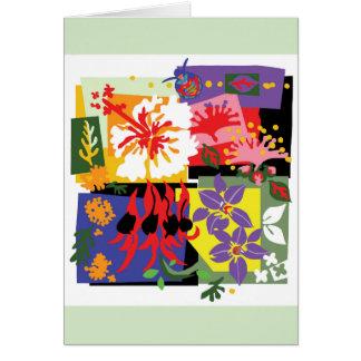 Motim da cor - cartão floral