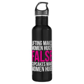Motivação da malhação do exercício - levantando garrafa d'água
