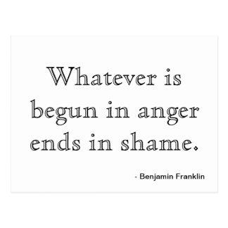 Motivação do cartão - raiva