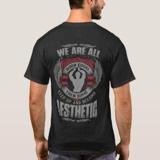 Motivação do físico - estética - intensifique - t-shirts