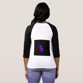 Motivo crescente dianteiro e traseiro do t-shirt camiseta