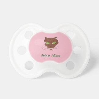Motivo de gato chupeta Miaou Miaou para bebés