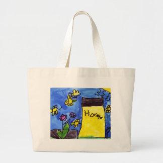 Motivo do mel e das abelhas bolsa para compra