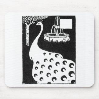 """Motivo do pavão, de """"do d'Arthur Le Morte"""" (litho) Mousepad"""