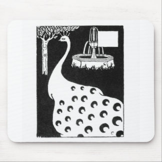 "Motivo do pavão, de ""do d'Arthur Le Morte"" (litho) Mousepad"