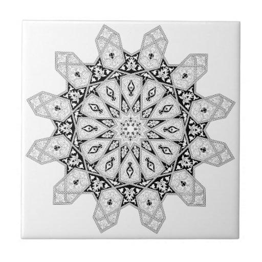 Motivo floral árabe do teste padrão azulejo de cerâmica