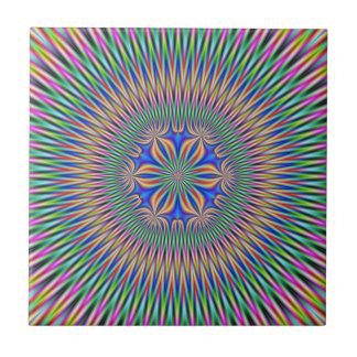 Motivo floral do azulejo na cor