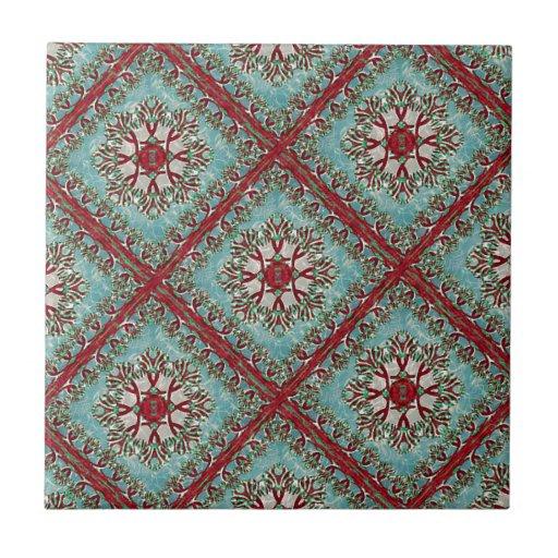 Motivo floral do vintage azulejo de cerâmica