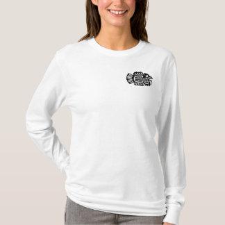 Motivo mexicano antigo Hoody dos peixes Camiseta