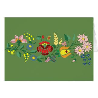 Motivos populares húngaros cartão comemorativo