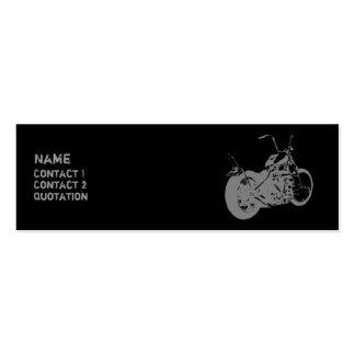 Moto 2 psicóticos cartão de visita skinny