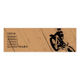 Moto-Psicótico Cartão De Visita Skinny