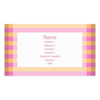 Moto - rosa & laranja modelo cartões de visita