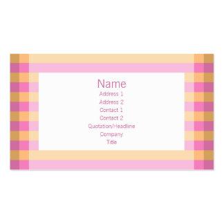 Moto - rosa & laranja cartão de visita