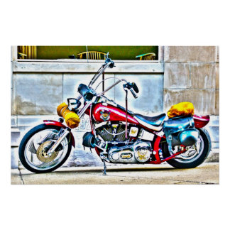 Motocicleta americana fora do poster de HDR do