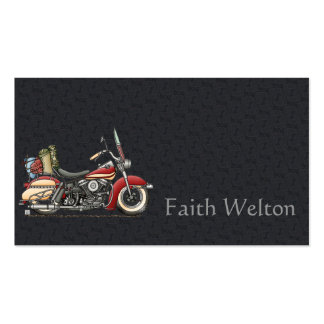 Motocicleta bonito cartão de visita