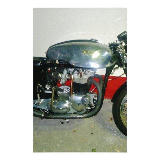Motocicleta britânica de Triton Papéis Personalizados