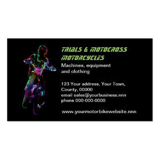Motocicleta do motocross das experimentações cartão de visita
