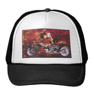 motocicleta girl.jpg do vetor bonés
