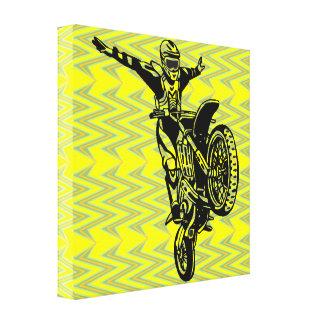 Motocicleta que compete canvas impressão de canvas esticadas