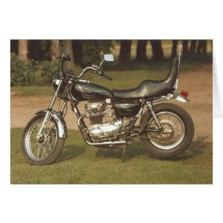 Motocicleta velha: Cartões vazios
