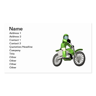 Motociclista 3 cartão de visita