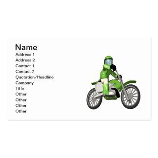 Motociclista 3 cartoes de visita