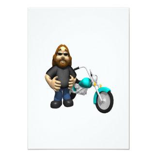 Motociclista 5 convite 12.7 x 17.78cm