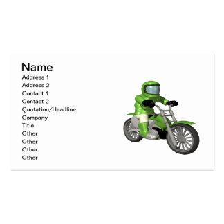 Motociclista 8 modelos cartões de visitas
